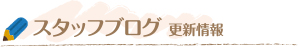 スタッフブログ更新情報